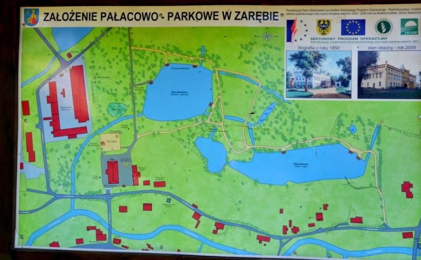 Założenie parkowo - pałacowe w Zarębie