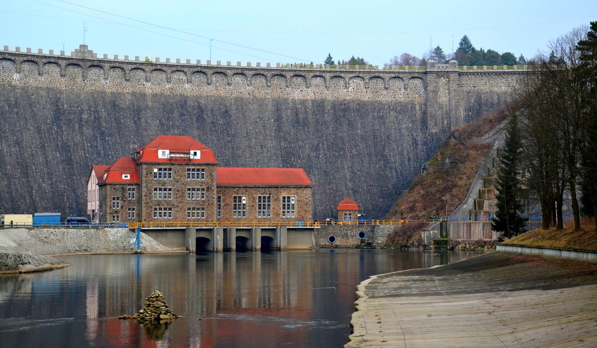 Zapora Pilchowice, geocaching