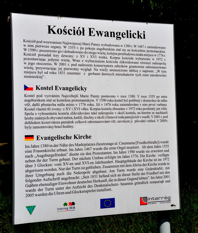 Zawidów, wieża dawnego kościoła p.w. Najświętszej Marii Panny, geocaching