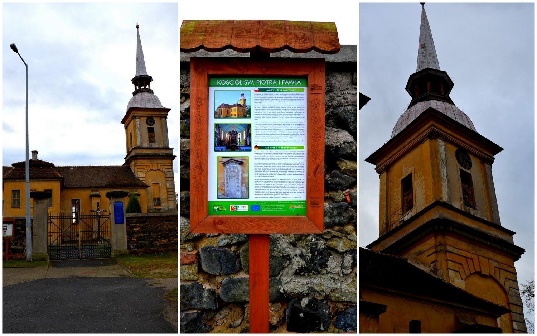 Radomierzyce. Kościół filialny pw. św. Piotra i Pawła, geocaching