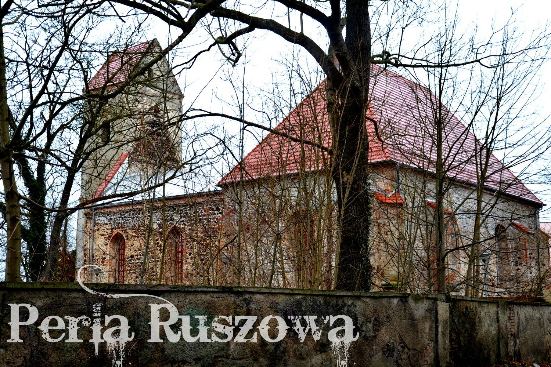 Ruszów. Dawny kościół ewangelicki pw. św. Jerzego, geocaching