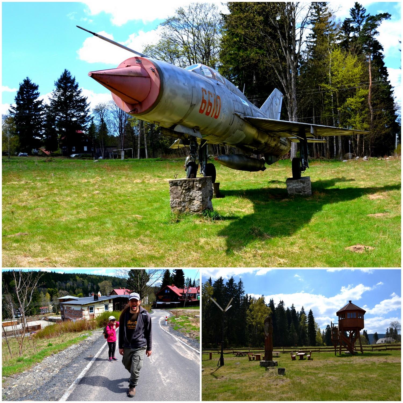 Szklarska Poręba, geocaching, MiG-21