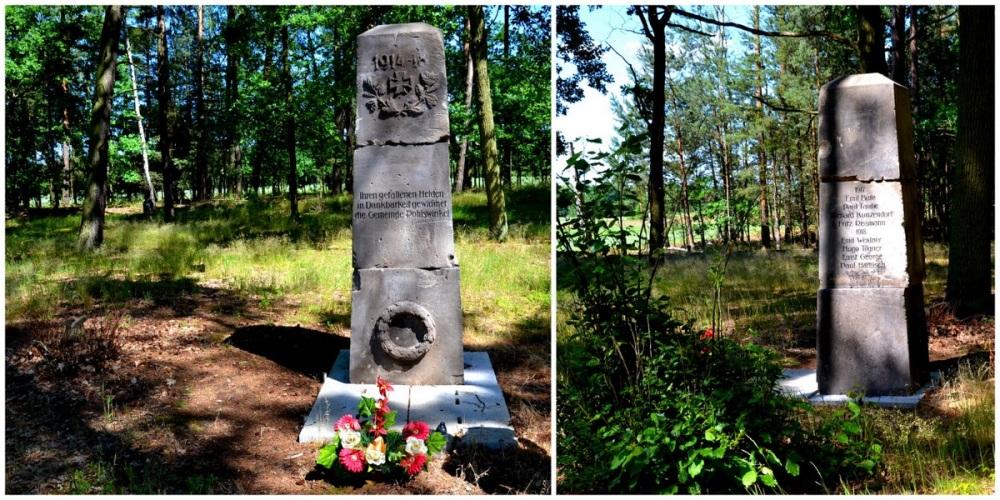 Geocaching, Patoka, dawny cmentarz, pomnik poległych w I wś