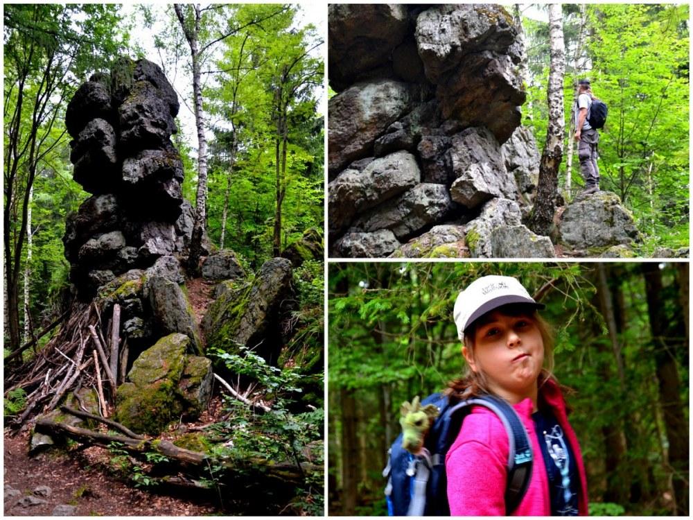 Geocaching, trasa na Wysoki Kamień, Podparta Skała